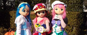 Cosplayer als Animefiguren