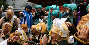 Vocaloid Cosplayer in Nagoya